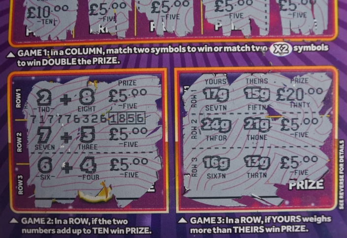 National Lottery Scratch Card Game