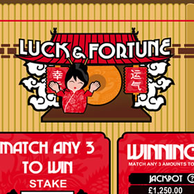 Luck and Fortune Scratch Card
