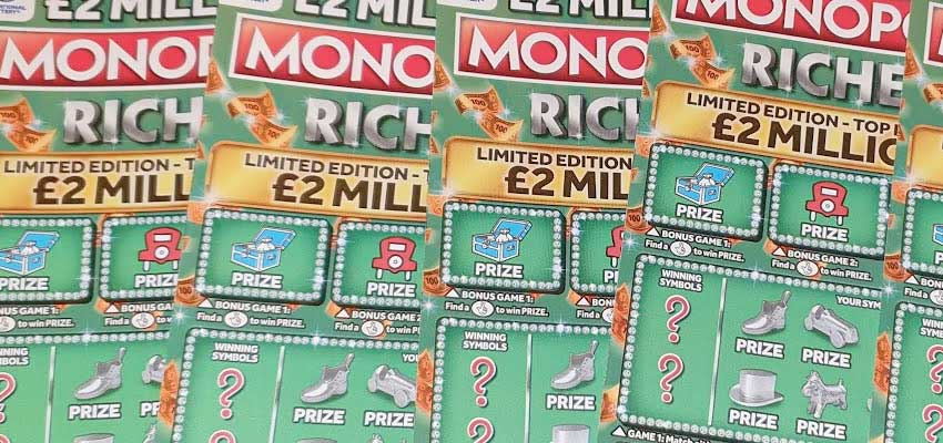 Monopoly Riches Scratch Card