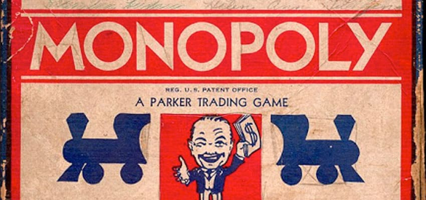 Early Monopoly Board Game