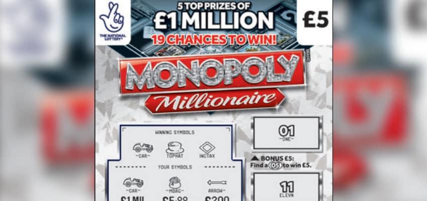 Monopoly Millionaire - Scratch Cards
